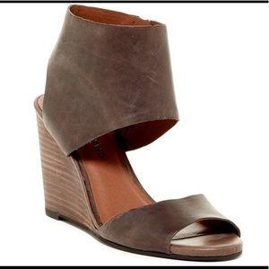 Lucky Brand Brown Raisza Wedge Sandal
